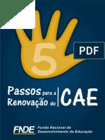 Passos para a renovação do CAE