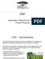 Zimbabwe Benefit Foundation - Agriculture, Education and Training Project Proposal