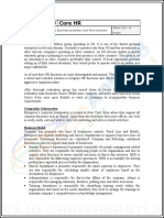 Core HR Case Study