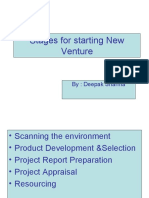 Stages for Starting New Venture