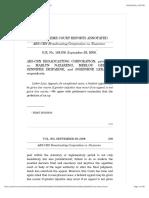 9. ABS-CBN Broadcasting Corporation vs. Nazareno, GR No. 164156