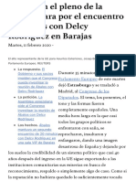 crisis venezolana - reunion de Abalos con Delcy Rodriguez en la Eurocámara