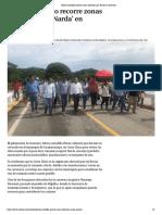 """01-10-2019 Héctor Astudillo recorre zonas afectadas por """"Narda"""" en Guerrero."""