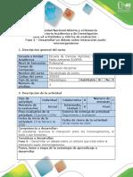 761-Guia de actividades y rubrica de evaluacion - Fase 2 - Desarrollo debate
