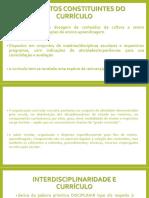 ELEMENTOS CONSTITUINTES DO CURRÍCULO