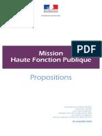Rapport de M. Frédéric THIRIEZ - Mission Haute Fonction Publique