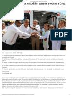04-10-201 Lleva El Gobernador Astudillo Apoyos y Obras a Cruz Grande.
