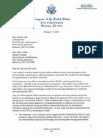 Morelle Letter to SSA Commissioner