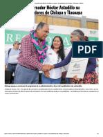 05-10-2019 Refrenda el gobernador Héctor Astudillo su apoyo a los pobladores de Chilapa y Tlacoapa.
