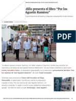 """06-10-2019 Gobernador Astudillo presenta el libro """"Por los caminos de José Agustín Ramírez""""."""