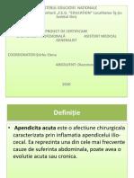 Prezentare power ponit apendicită