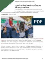 07-10-2019 Astudillo inaugura aula virtual y entrega Seguro Pecuario Catastrófico a ganaderos.