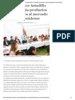 14-10-2019 Busca Héctor Astudillo exportar más productos guerrerenses al mercado estadounidense.