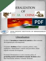 Liberalization of India vs China