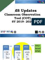 RPMS Updates & COT- Jho.pptx