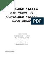 CONTAINER VESSEL NYK VENUS VS CONTAINER VESSEL SITC OSAKA.docx