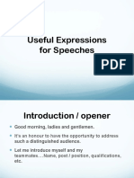 Public speaking useful expressions