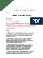 ORDEN de 25 de junio de 2001_Sobredotación_Aragón