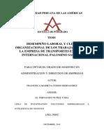 DESEMPEÑO LABORAL Y CLIMA ORGANIZACIONAL DE LOS TRABAJADORES EN LA EMPRESA DE TRANSPORTES EXPRESO INTERNACIONAL PALOMINO SAC 2018.pdf