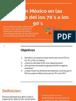 DO en México en las décadas del los 70´s a los 90´s