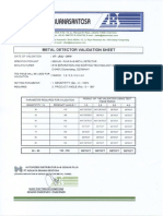 METAL DETECTOR VALIDATION SHEET C.pdf