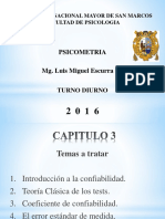PSICOMETRIA - CAP 3 - INTRODUCCION A LA CONFIABILIDAD