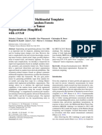 Optimal Symmetric Multimodal Templates and Concatenated Random Forests for Supervised Brain Tumor Segmentation (Simplified) with ANTsR