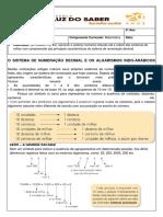 Matemática - Anotação e atividade de sala