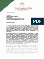 Movimiento Izquierda Unida responde a Diosdado Cabello