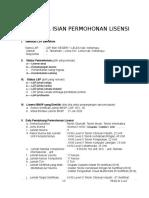 3. FR.KL.01.3- rev.2 Daftar Isian Permohonan Lisensi