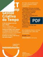 Workshop Gestão Criativa do Tempo