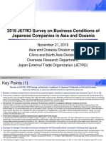 2019 JETRO Survey on Business Conditions of Japanese Companies in Asia and Oceania