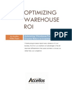 Optimizing Your Warehouse and  Return On Investment White Paper