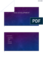 Web Development Seminar