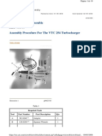 Assembly Procedure  VTC 254 Turbocharger