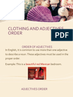 CLOTHING AND ADJECTIVES ORDER.pptx