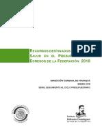 Recursos destinados al sector salud PresupuestoEgresosdelaFederacion 2018
