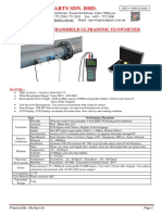 Ultrasonic Handheld Flowmeter