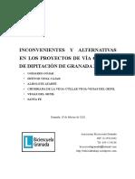 Inconvenientes y alternativas en los proyectos de vía ciclista de Diputación de Granada 2020