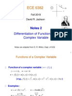 Notes 2 6382 Complex Differentiation