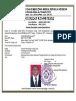 sertifikat listrik