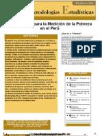 Metodología de medición de pobreza