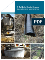a guide to septic systems and operation maintenance