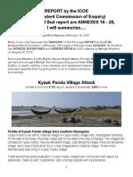 ICOE-Kyauk Pandu Attacks, Summarized
