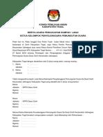 BA PENGUCAPAN SUMPAH KPPS 2019