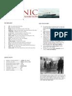 Titanic at a Glance
