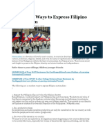 10 Modern Ways to Express Filipino Nationalism