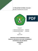 laporan konstanta Planck