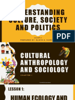 UNDERSTANDING CULTURE, SOCIETY and POLITICS 1