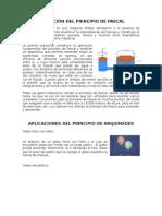 APLICACIÓONES DEL PRINCIPIO DE PASCAL Y ARQUIMEDES